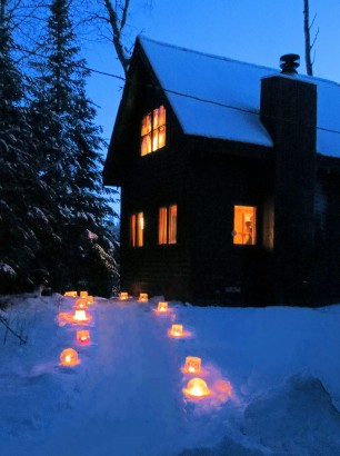 Christmas in Spruce Cabin 1. Photo courtesy of the Kelchner family.