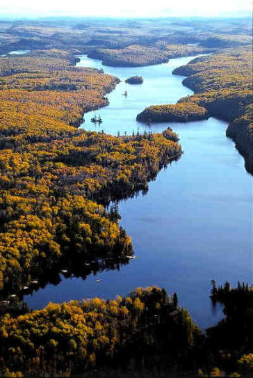 Bearskin Lake aerial photo