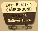 East Bearskin Lake Campground sign